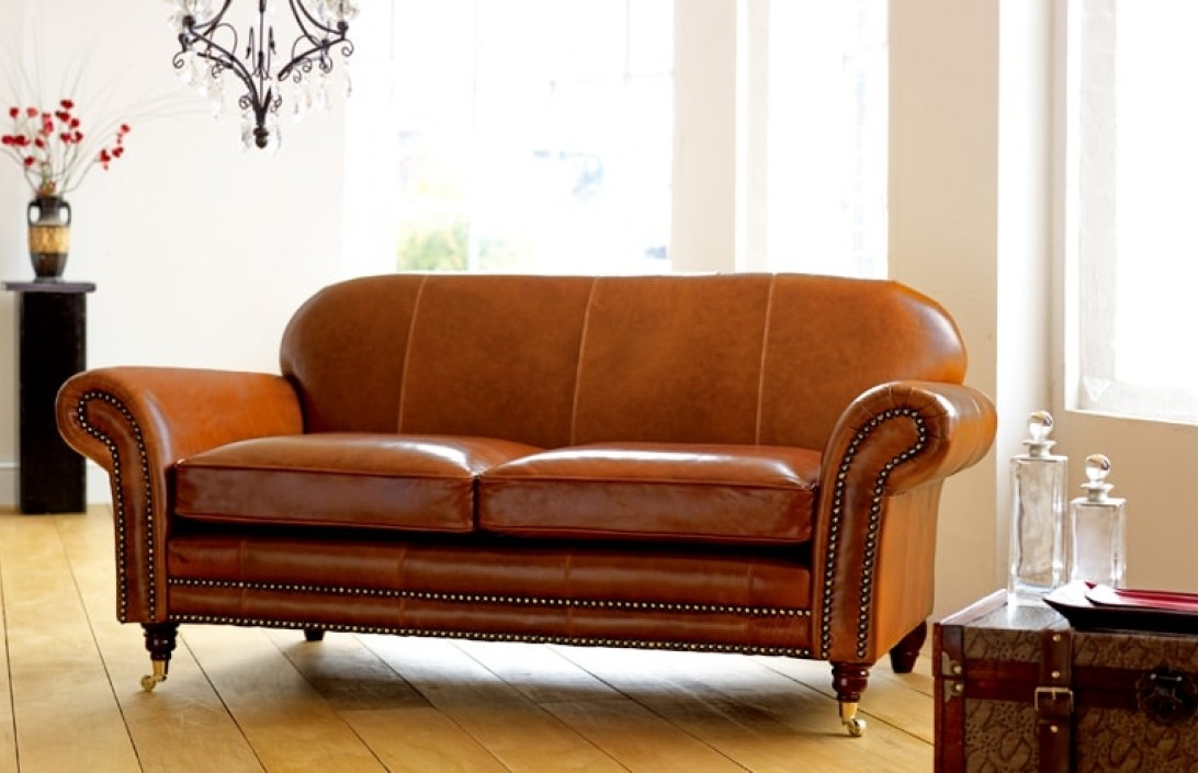 Rochester Vintage Leather Settee Leather Sofa Beds Intended For Vintage Leather Sofa Beds (#8 of 15)
