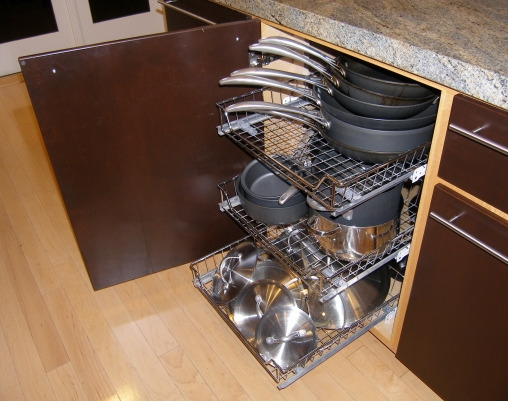 Roll Out Storage Racks Keep Cabinets Organized And Pots And Pans Inside Storage Racks For Kitchen Cupboards (#13 of 15)