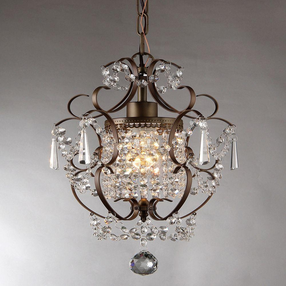 Rosalie 11 In Antique Bronze Indoor Crystal Chandelier Rl4025br Throughout Bronze And Crystal Chandeliers (#11 of 12)