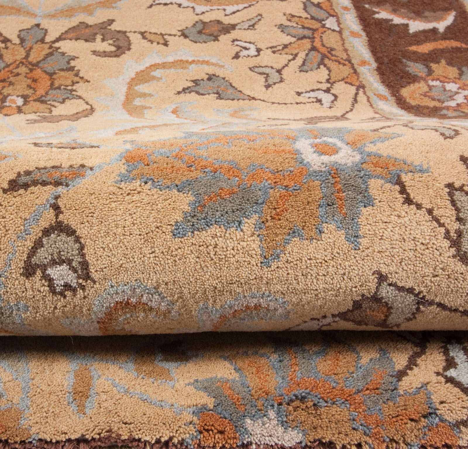 Royal Beige Brown Gold Grey Ivory Traditional Hand Tufted Wool With Regard To Wool Area Rugs 5× (#11 of 15)