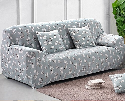 Rshp Cotton 5 Seater Slipcover Floral Maroon Colored Floral Design Regarding Large 4 Seater Sofas (View 15 of 15)