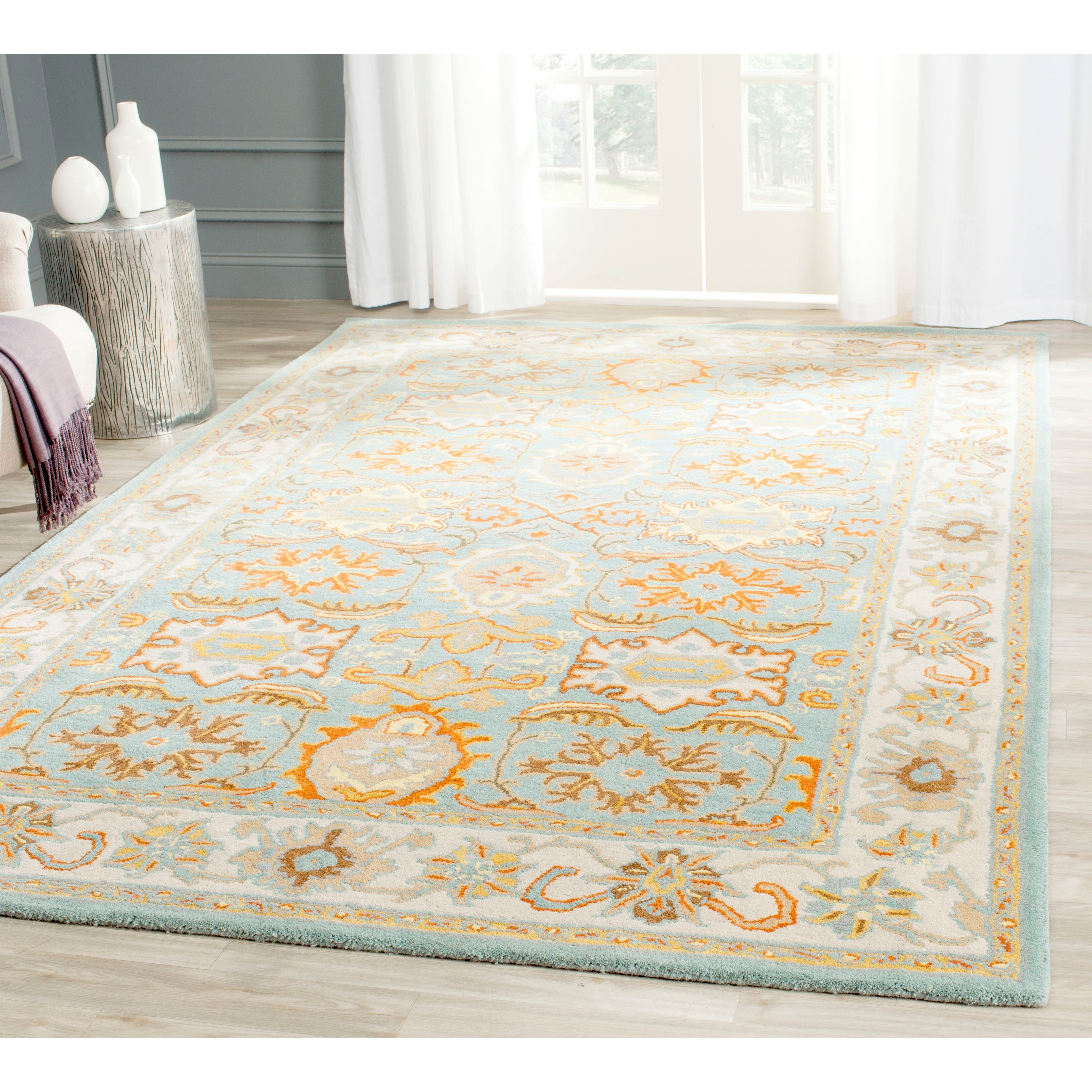 10x10 Square New Oushak Oriental Wool Area Rug: 15 Best Collection Of Square Wool Area Rugs