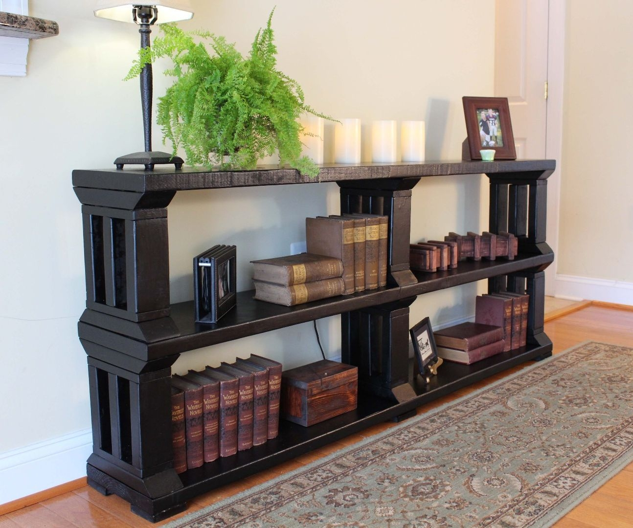 Rustic Book Shelf Or Tv Stand 13 Steps With Pictures Within Desk With Matching Bookcase (#13 of 15)