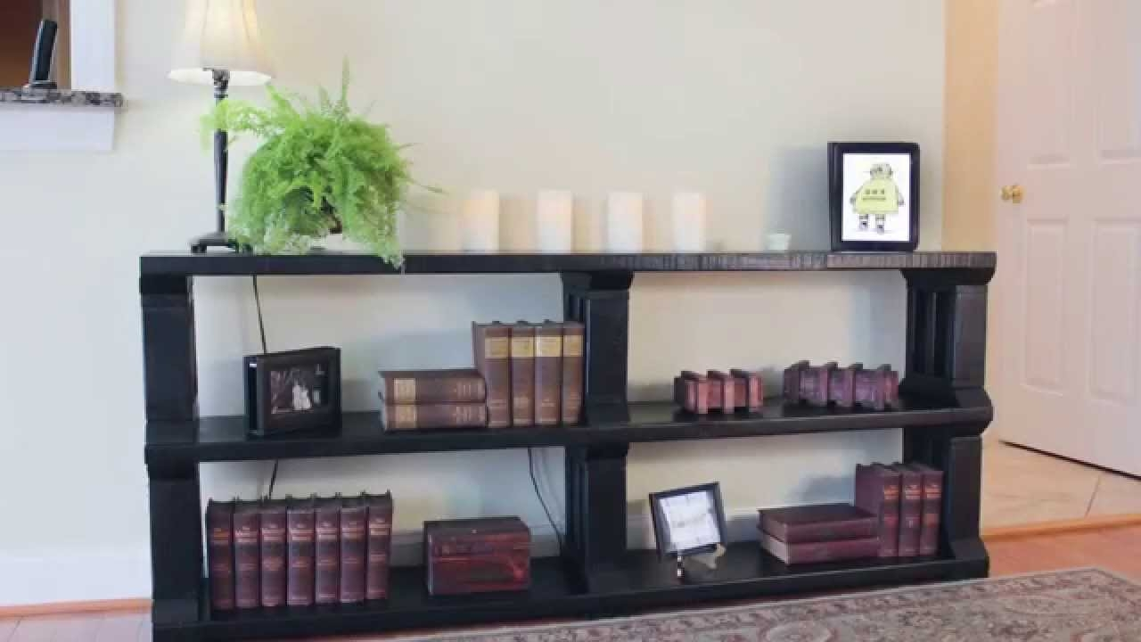 Rustic Book Shelf Or Tv Stand Youtube Within Bookcase With Tv Shelf (#11 of 15)