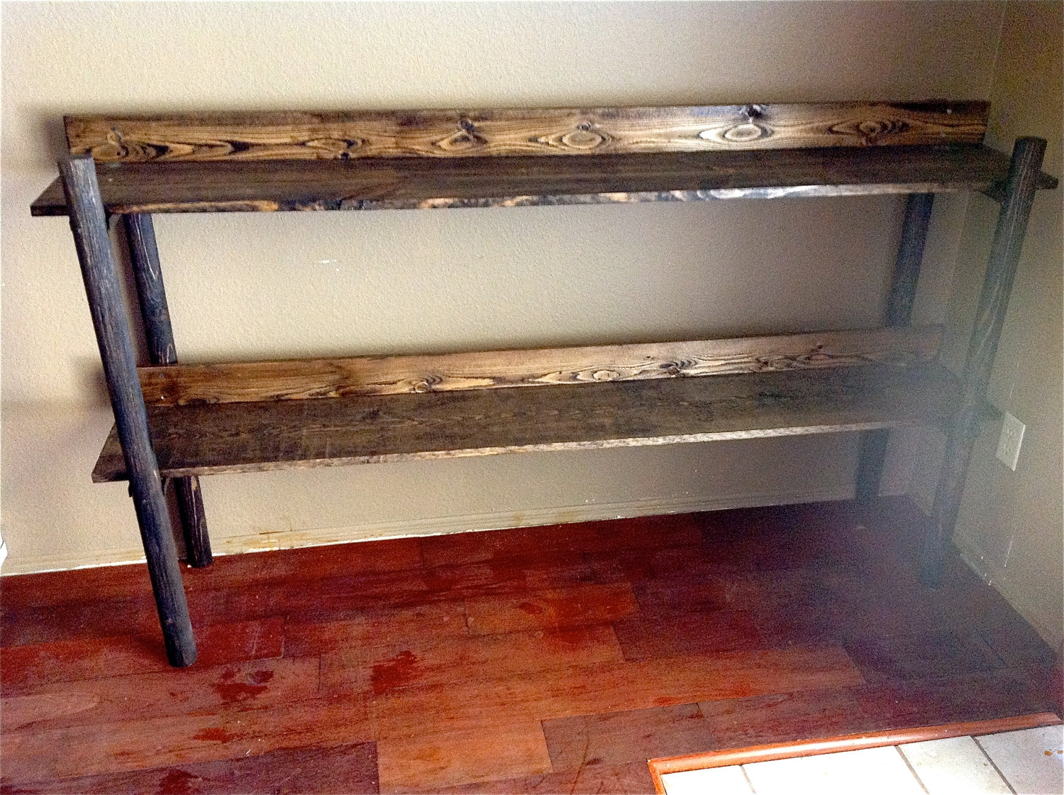 Rustic Handmade Wooden Bookshelf Furniture Pinterest Throughout Handmade Bookshelves (#14 of 15)