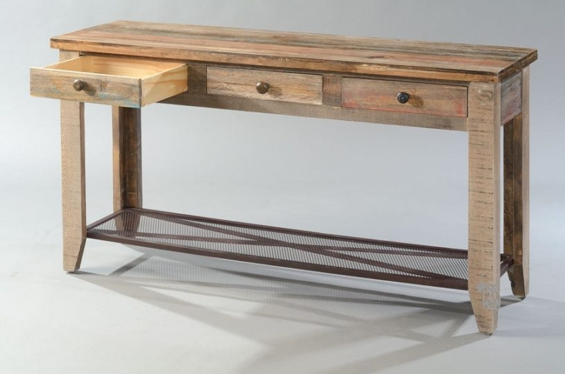Rustic Sofa Tables Rustic Sofa Table Drawers Presri For Sofa Table Drawers (#12 of 15)