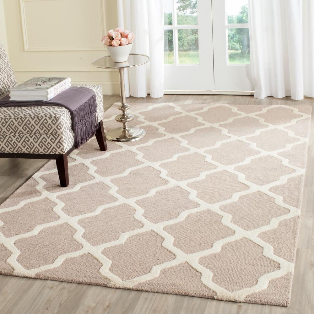 Safavieh Cambridge Beigeivory 8 Ft X 10 Ft Area Rug Cam121j 8 Within Square Wool Area Rugs (#8 of 15)