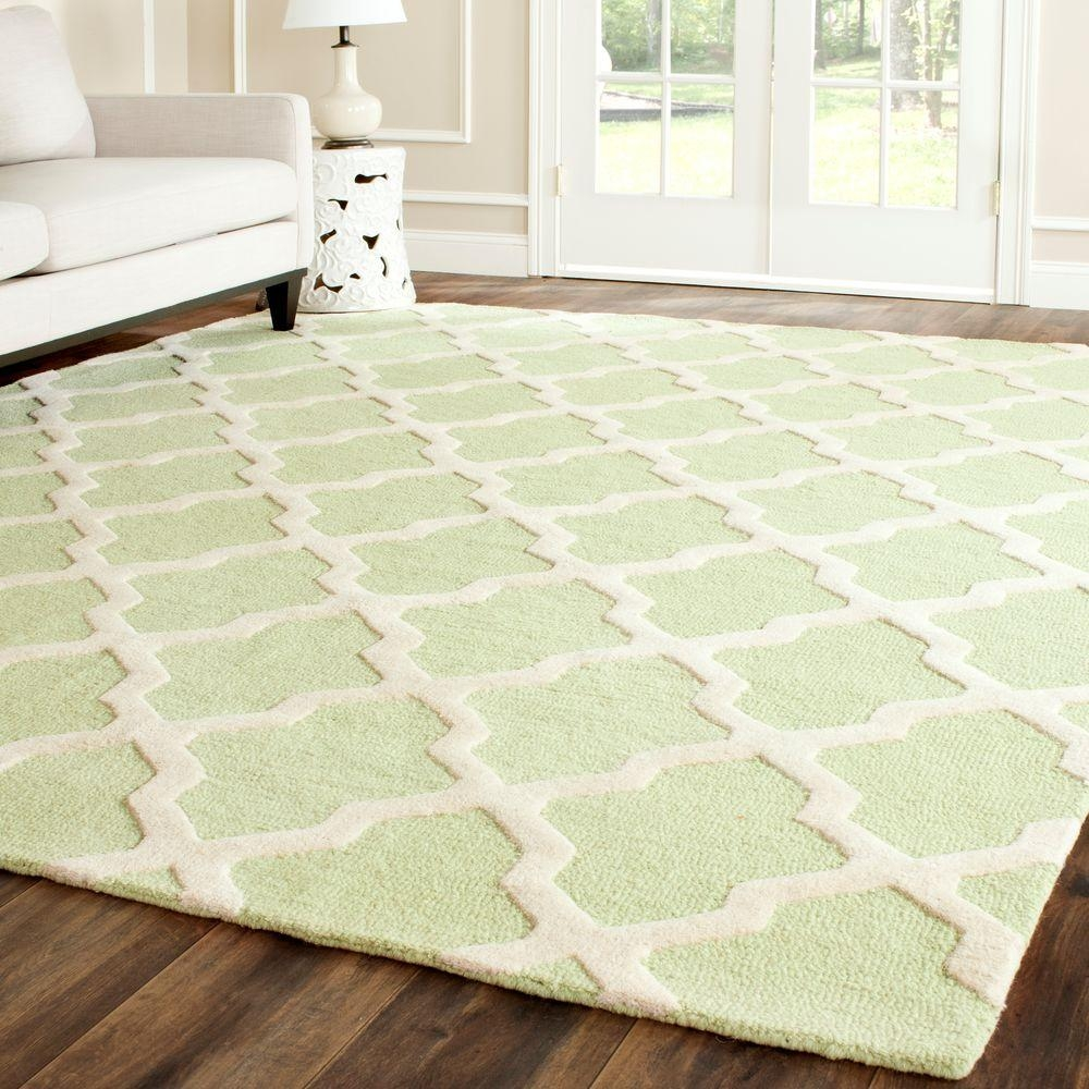 Safavieh Cambridge Light Greenivory 10 Ft X 14 Ft Area Rug With Regard To Wool Area Rugs 10× (#11 of 15)