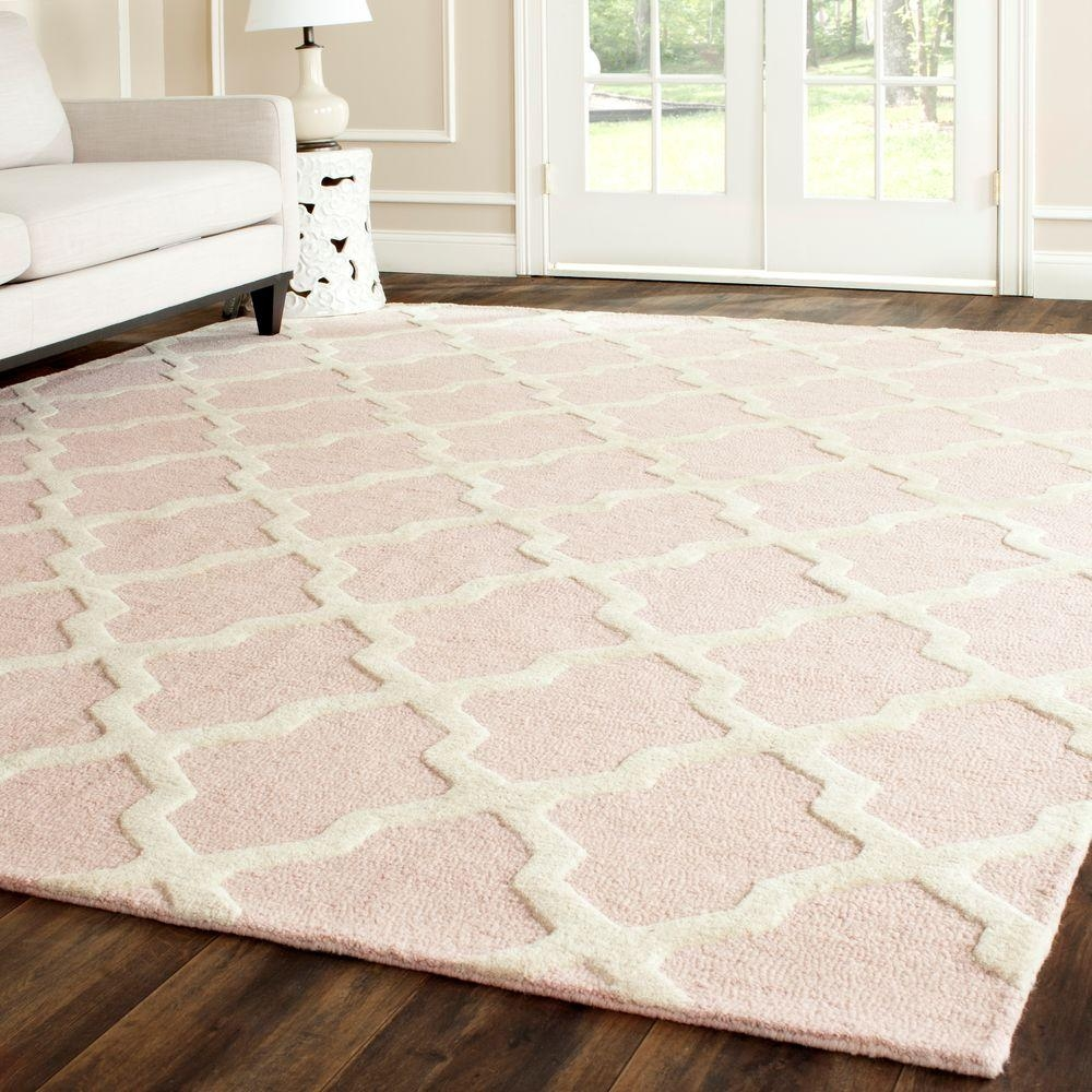 Safavieh Cambridge Silverivory 8 Ft X 10 Ft Area Rug Cam121d 8 Within Wool Area Rugs (#10 of 15)