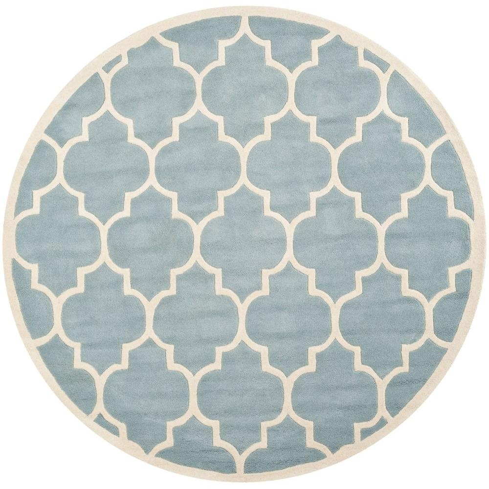 Safavieh Chatham Greyivory 8 Ft X 10 Ft Area Rug Cht733e 8 Throughout Round Wool Area Rugs (#14 of 15)