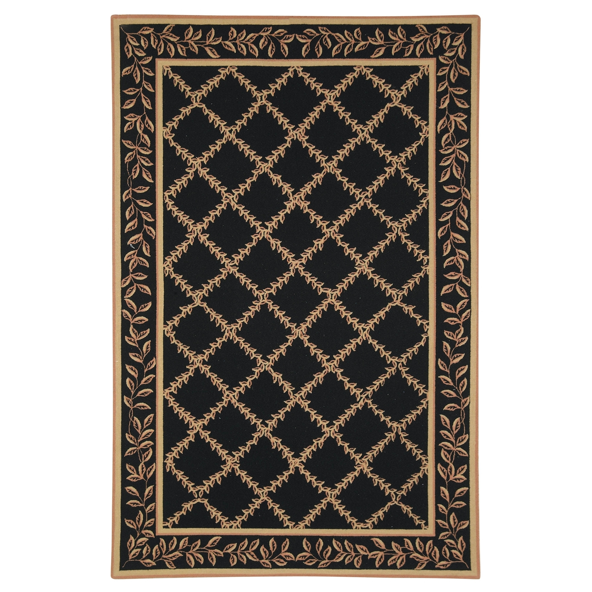 Safavieh Chelsea Hand Hooked Black Beige Wool Area Rugs Hk230d Intended For Hand Hooked Wool Area Rugs (#10 of 15)