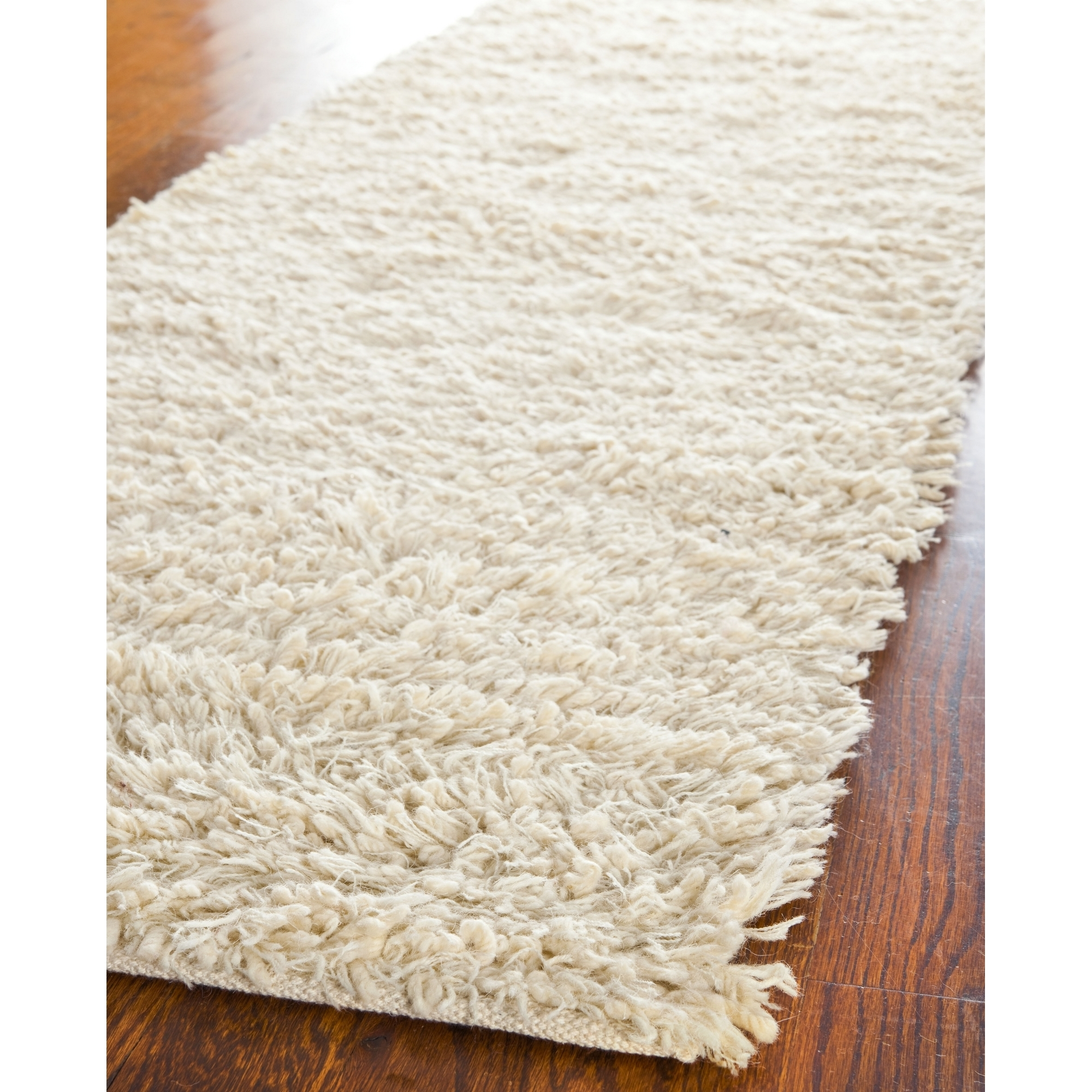 Safavieh Hand Tufted Ivory Plush Shag Wool Area Rugs Sg731a Ebay Intended For Wool Area Rugs (#11 of 15)