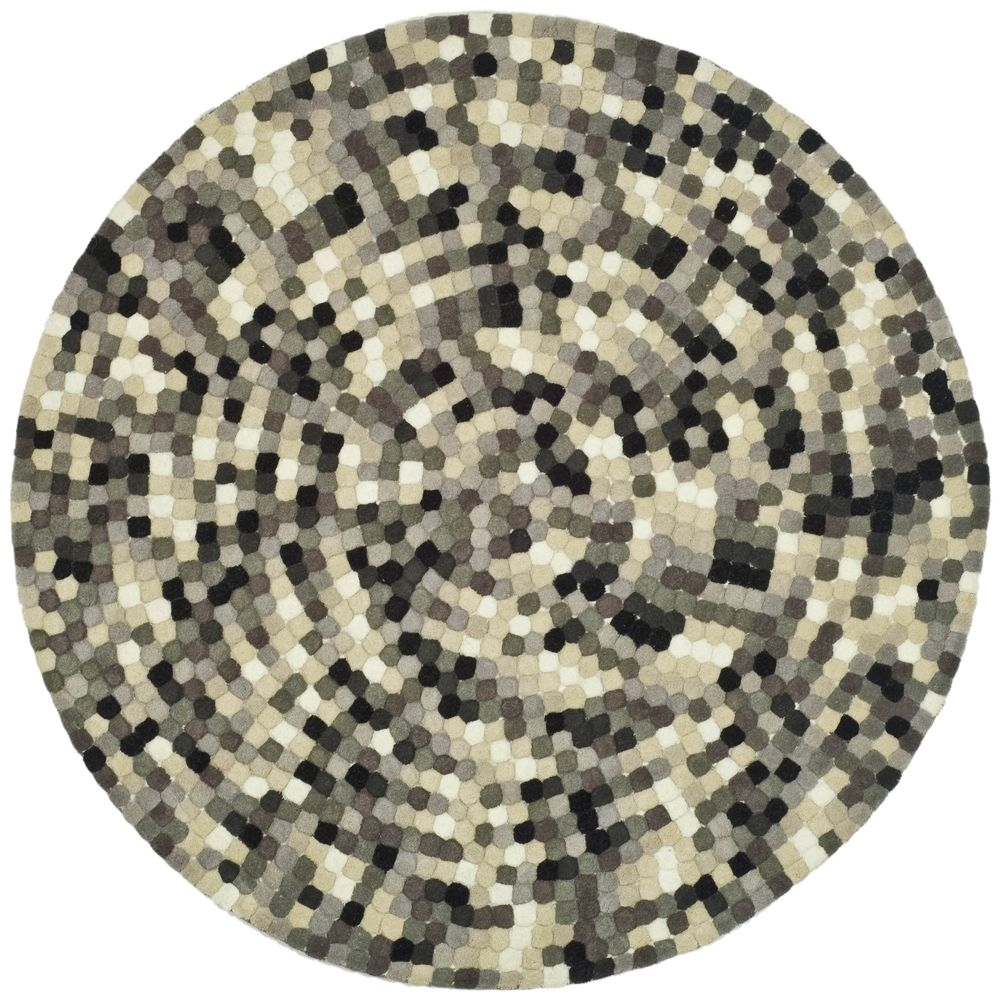 Safavieh Handmade Soho Mosaic Modern Abstract Black Wool Rug 6 X Intended For New Zealand Wool Area Rugs (#14 of 15)