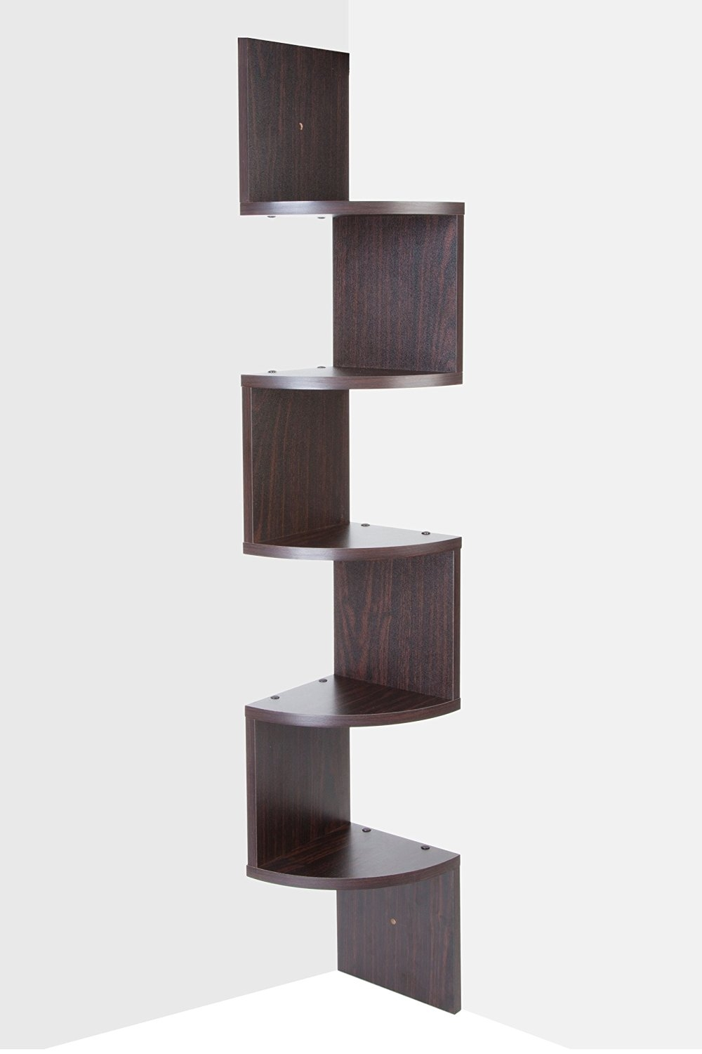 Saganizer Corner Shelf Brown Corner Shelf Unit 5 Tier Corner Intended For Corner Shelf (#11 of 12)