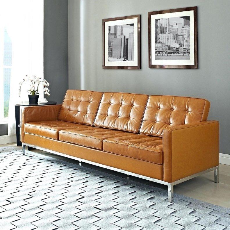 Samuel Leather Sofa Extraordinary Light Tan Couch Living Room Pertaining To Light Tan Leather Sofas (View 13 of 15)