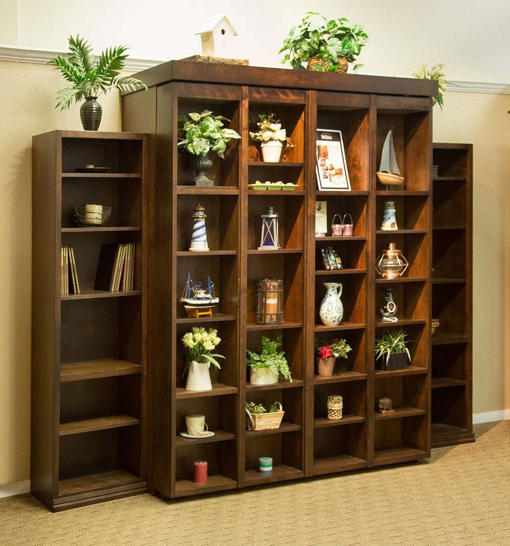 San Diego California Wall Beds And Murphy Beds Wilding Wallbeds Within Bifold Bookcase (#14 of 15)
