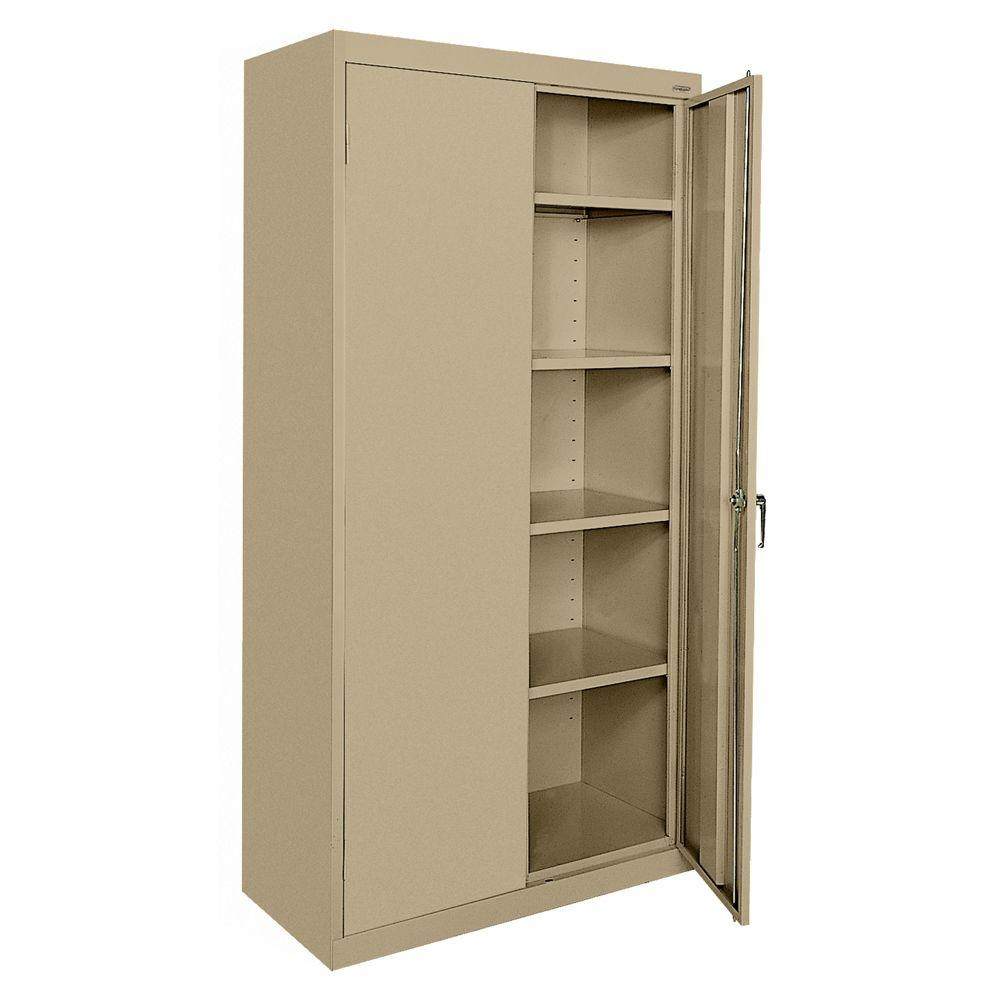 Sandusky Classic Series 72 In H X 36 Inw X 18 In D Steel In Free Standing Storage Cupboards (View 7 of 12)