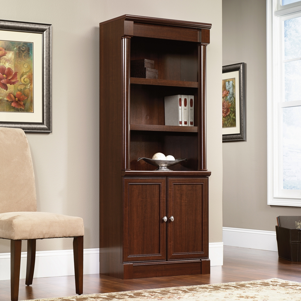 Sauder Palladia Library Bookcase With Doors 412019 In Bookcases With Doors (#14 of 15)