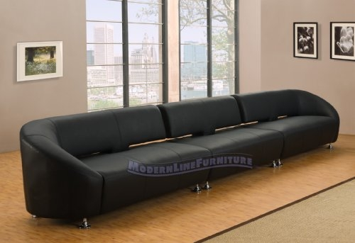 Saville Modern Classic Tufted Fabric Sofa Gray Sofas Best 13 Throughout Long Modern Sofas (#13 of 15)