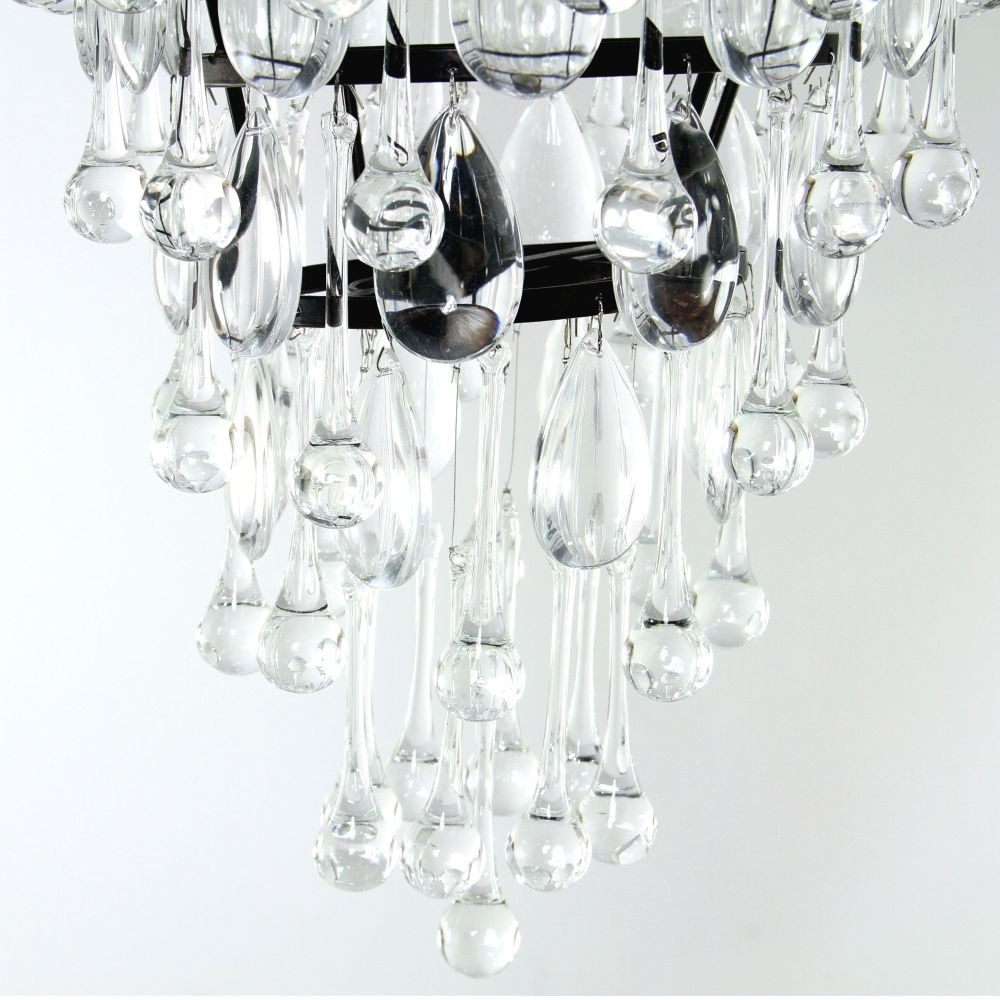 Savona Glass Droplet Chandelier Luxe For Glass Droplet Chandelier (#9 of 12)