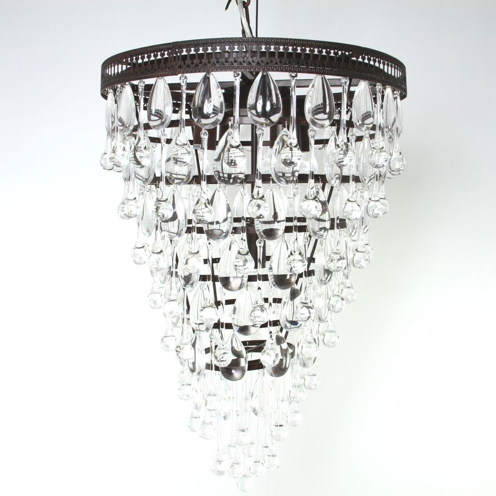 Savona Glass Droplet Chandelier Luxe In Glass Droplet Chandelier (#10 of 12)