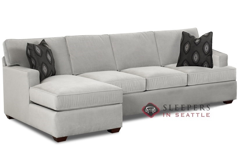 Savvy Lincoln Chaise Sectional Sleeper Sofa Queen At Sleepers In With Regard To Sectional Sofas With Sleeper And Chaise (#13 of 15)