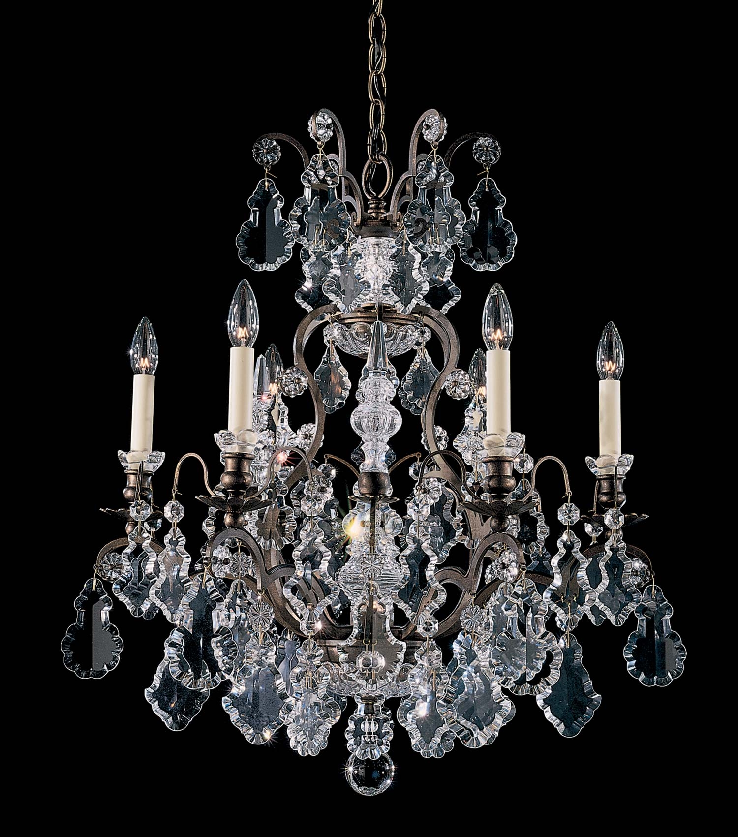 Schonbek 2770 Versailles Collection Chandelier Crystal Traditional Throughout Baroque Chandelier (#10 of 12)