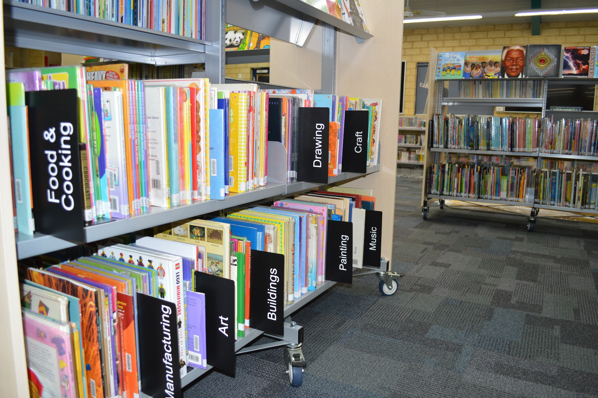 15 best ideas of library shelf dividers
