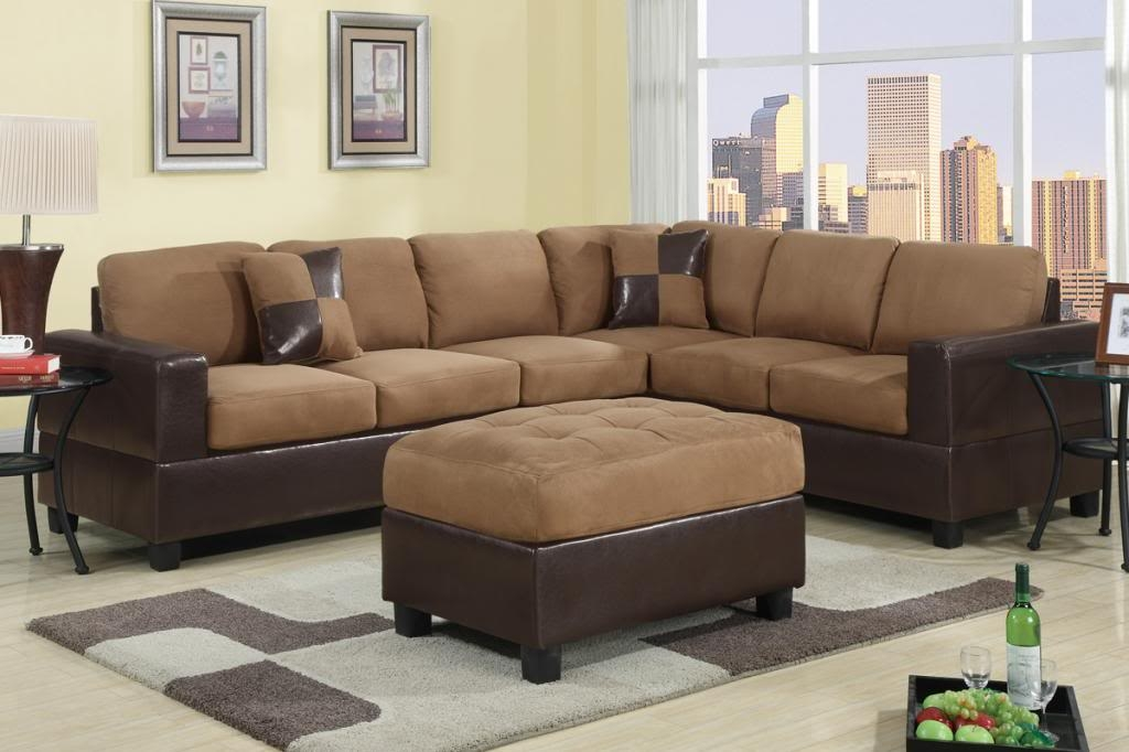 Sectional Sofa Furniture Microfiber Sectional Couch 2 Pc Living Inside Red Microfiber Sectional Sofas (#13 of 15)