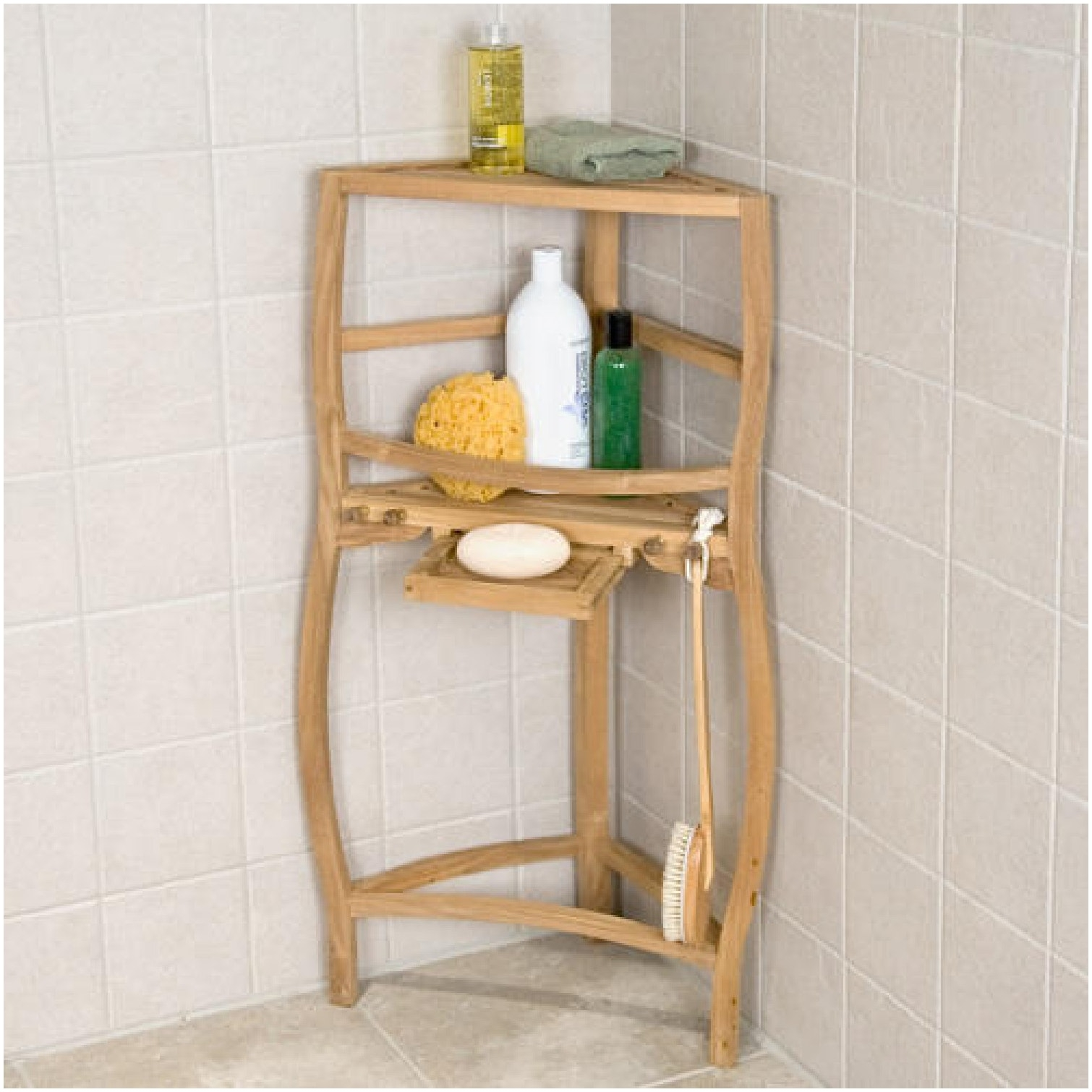 Shelf Design Enchanting Glass Shower Shelf Corner Home Storage Within Free Standing Glass Shelves (#12 of 12)