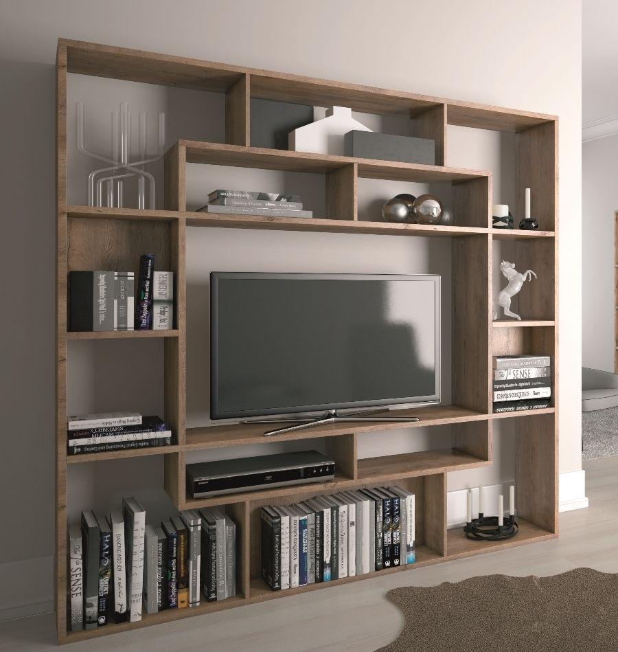 Shelving Unit Bookcase Display Storage Wood Shelf Tv Unit Inside Tv In Bookcase (#9 of 14)