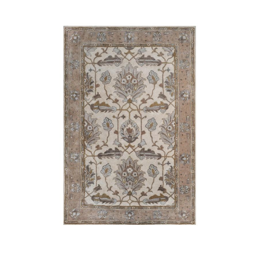 Shop Allen Roth Southminster Rectangular Cream Floral Hand With Hand Hooked Wool Area Rugs (#15 of 15)