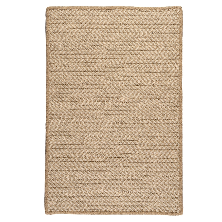 Shop Colonial Mills Natural Wool Houndstooth Tea Rectangular For Natural Wool Area Rugs (#11 of 15)