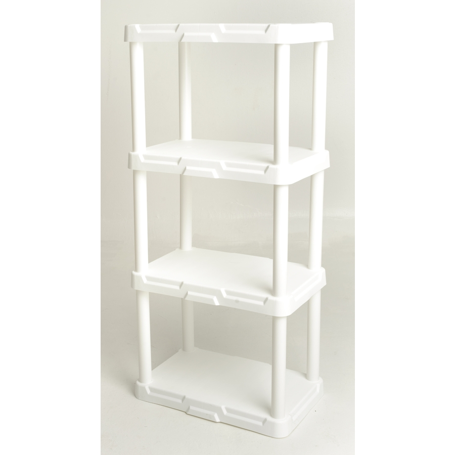 Shop Freestanding Shelving Units At Lowes Throughout Free Standing White Shelves (#13 of 15)