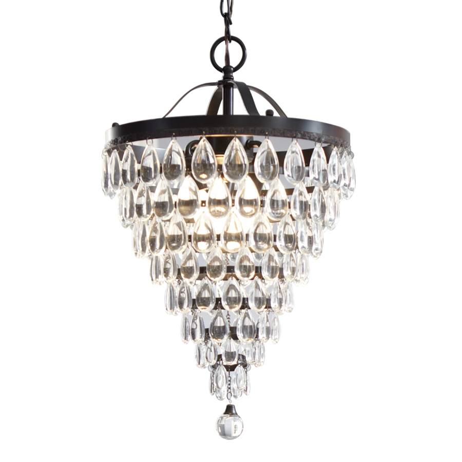 Shop Style Selections 3 Light Antique Bronze Crystal Chandelier At Throughout Bronze And Crystal Chandeliers (#12 of 12)