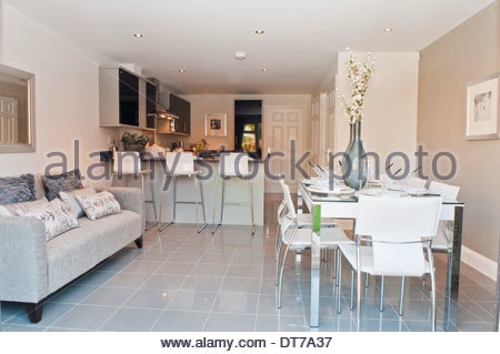 Show Home Kitchen Diner With Sofa Stock Photo Royalty Free Within Sofas For Kitchen Diner (#14 of 15)