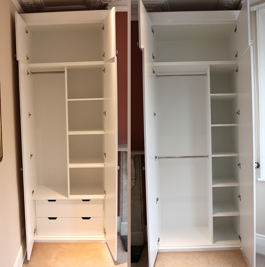 Showing A Sample Of The Interiors Of Our Fitted Wardrobes With Wardrobe With Shelves (#10 of 15)