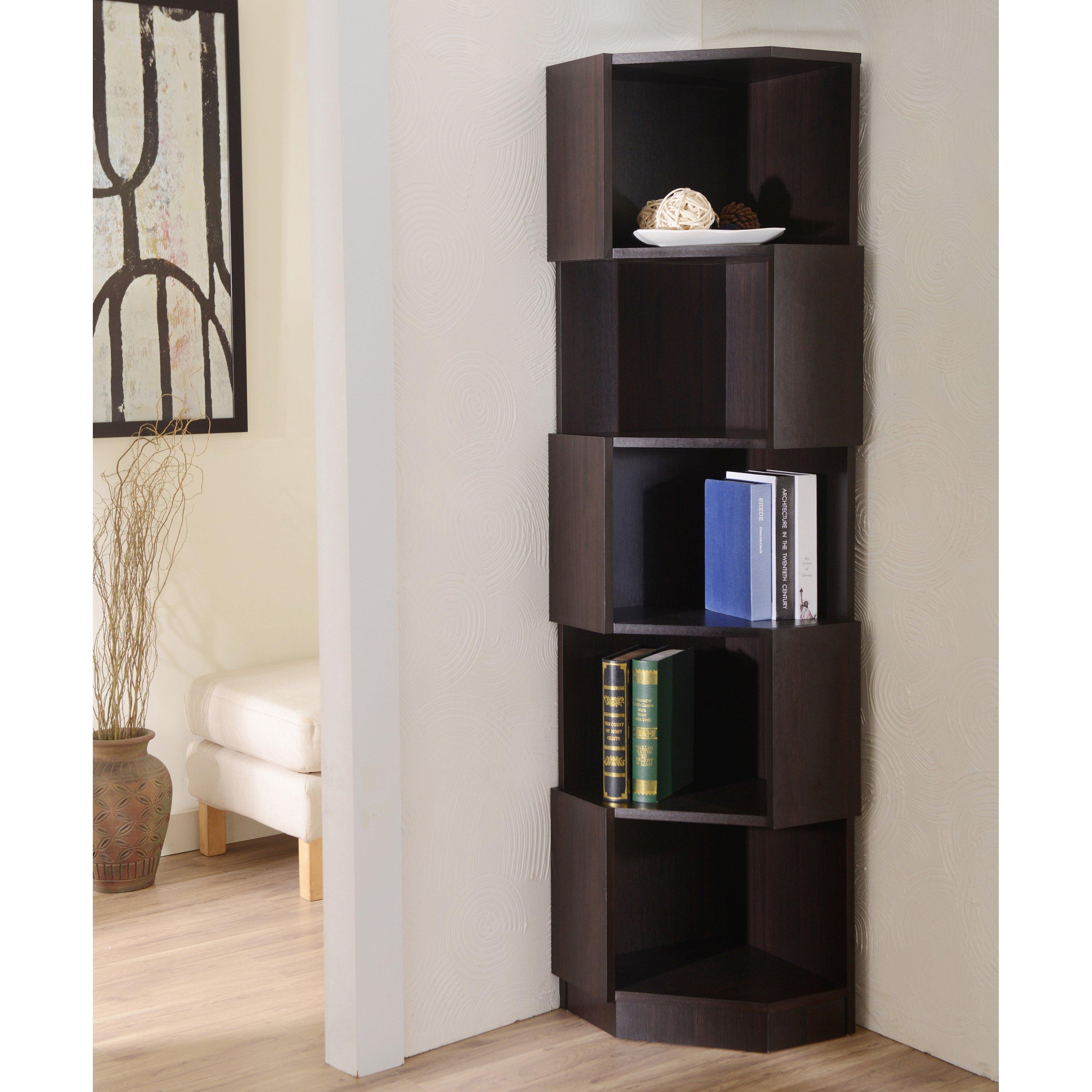 Simple Corner Bookcase Furniture Bookcases Corner Bookshelves In Corner Bookcase (#14 of 15)