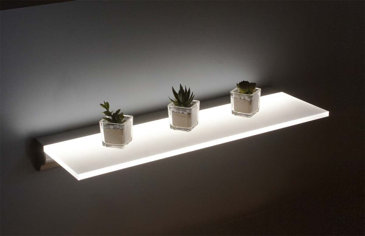 Sirius Floating Intended For Led Floating Glass Shelves (#10 of 12)