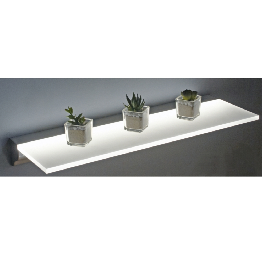 Sirius Floating Led Shelf Lighting Regarding Led Floating Glass Shelves (#11 of 12)
