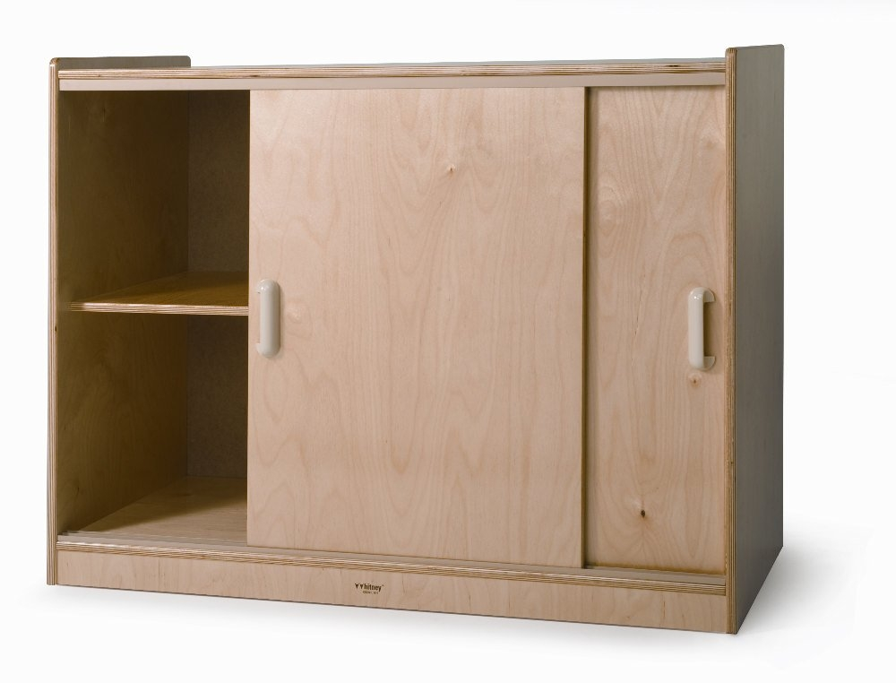 Sliding Doors Storage Cabinet Whitney Bros With Cupboard Sliding Doors (#7 of 15)