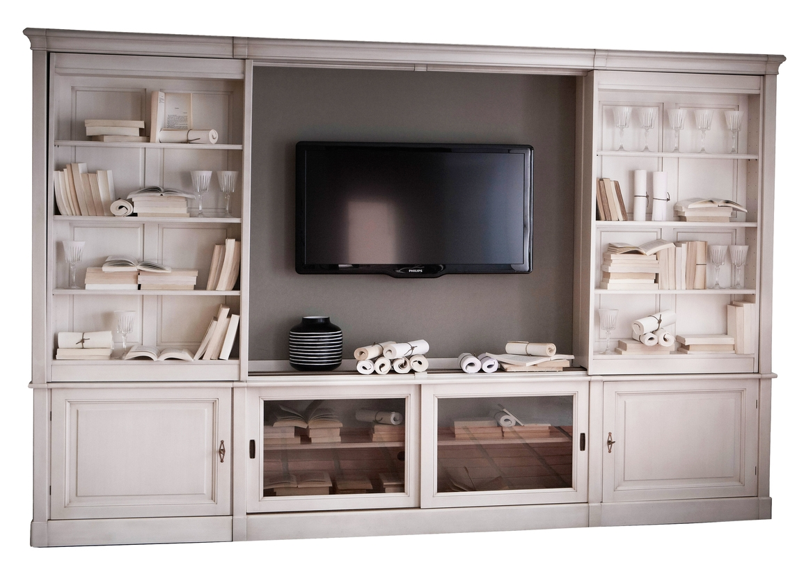 Sliding Tv Bookcase Wall Unit From Grange Furniture Bookshelves For Bookcase Tv Unit (View 11 of 15)