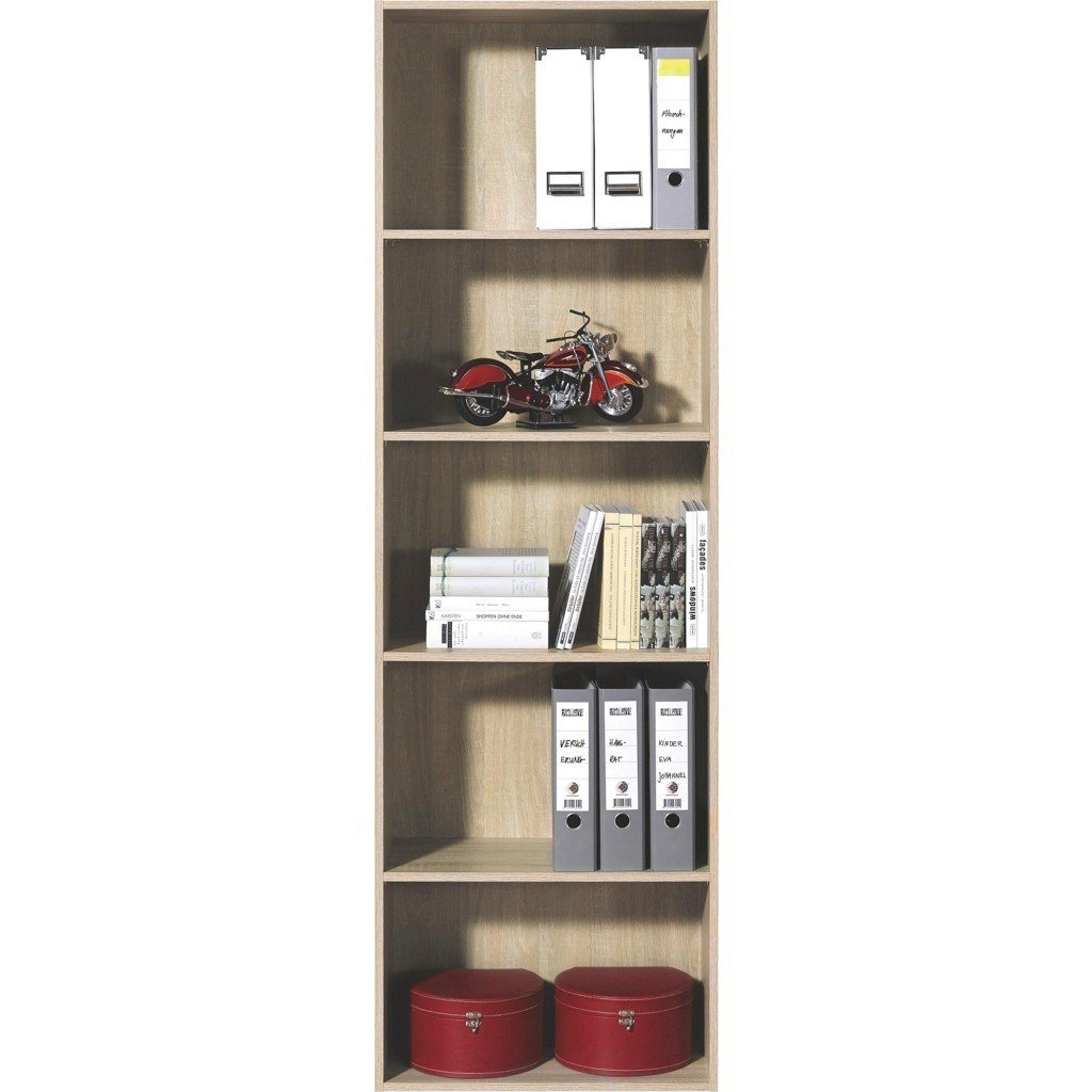 Small Bookcase Beech 3 Open Shelves Amazoncouk Kitchen Home Regarding Beech Bookcases (#12 of 15)