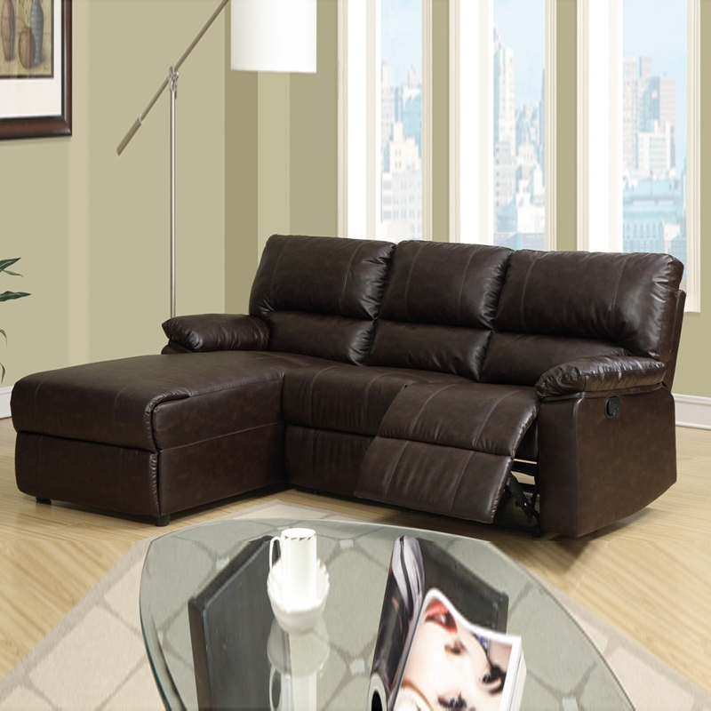 Small Size Leather Sofa Corner Sofa Sectional Sofas Ideas Intended For Sectional Sofas For Small Spaces With Recliners (#9 of 15)