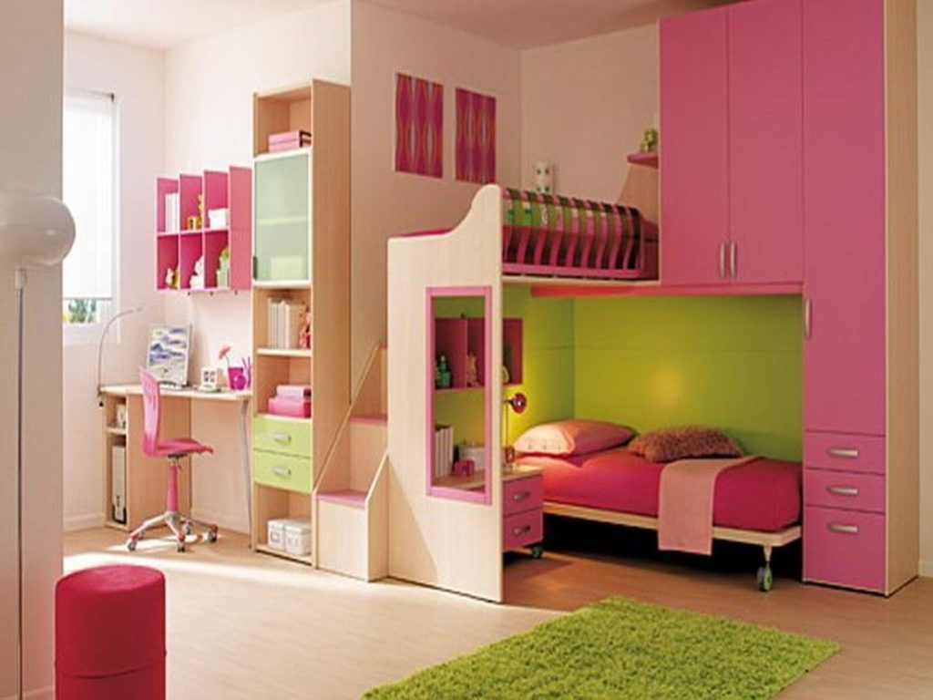 Smar Arranggement Girl Study Room Joined With Bedroom With Large Throughout Study Cupboard Designs (View 4 of 15)