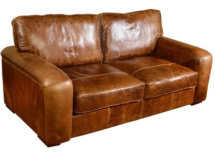 Sofa Bed Next Day Delivery Maverick Vintage Leather 3 Seater Within Beds