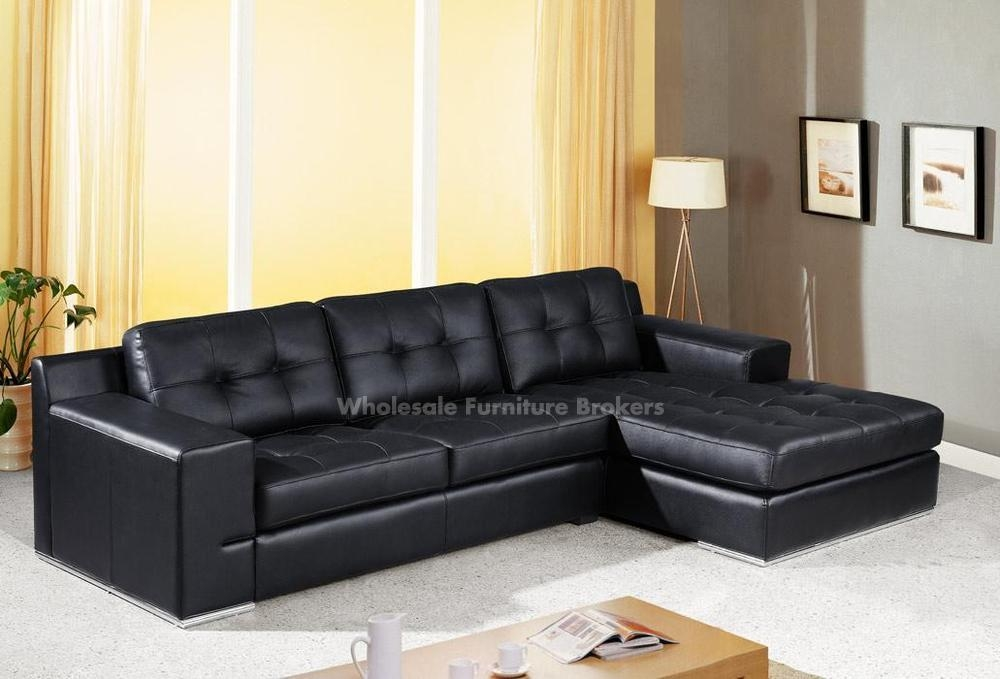 Sofa Beds Design Stunning Modern Cheap Black Sectional Sofa Intended For Black Leather Sectional Sleeper Sofas (#13 of 15)