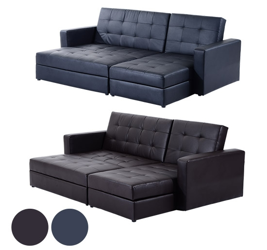 Sofa Beds With Storage Sofa Beds Ebay Intended For Leather Sofa Beds With Storage (#12 of 15)