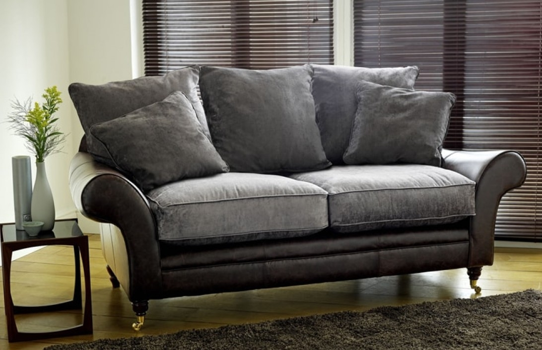 Sofa Fabric In Leather And Material Sofas (#11 of 15)