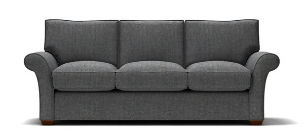 Sofa With Navy Tweed Fabric Stl Illustrator Throughout Tweed Fabric Sofas (#13 of 15)